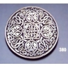 380 Ornate sterling brooch round