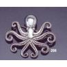 206 Octopus brooch