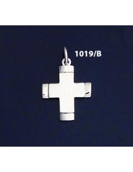 1019/B Contemporary Glossy Silver Baptism Cross