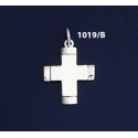 1019/B Contemporary Glossy Silver Baptism Cross