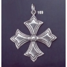 169 Solid Sterling Silver Byzantine Cross