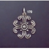 170 Ornate Silver Byzantine Cross