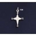 739 Solid Sterling Silver Byzantine Cross