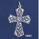 1021 Ornate Byzantine Cross ( L )