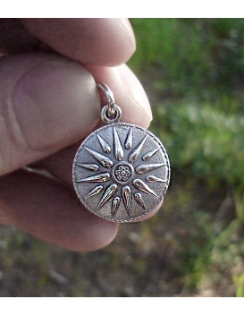 614 Macedonia Sun pendant in Sterling silver (Greek Jewelry Shop)
