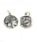 605 Athens tetradrachm, Athena & Wise Owl Greek silver coin pendant