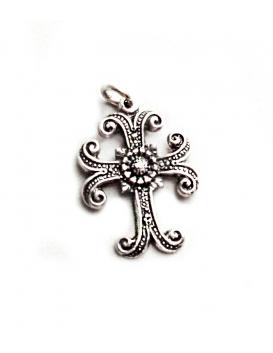 26 Ornate Silver Byzantine Cross - Greek Orthodox crosses