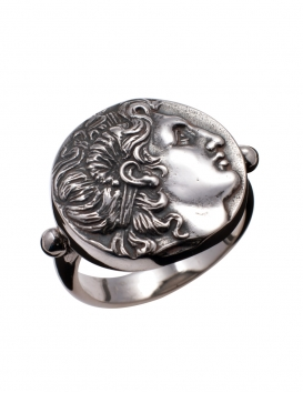 687/A Alexander the Great (Lysimachus) coin ring (Large)