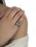 Silver goddess ring (Minoan Greek snake jewelry)
