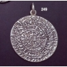249 X-Large flat Phaistos disc pendant (38mm diameter)