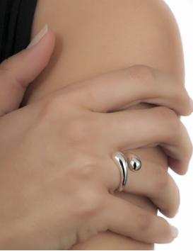 Contemporary greek Snake ring jewelry designers