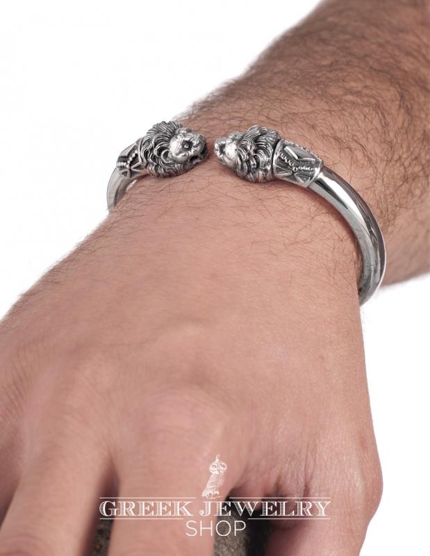 Greek Jewelry S Finest Silver Lion Torc Bracelet