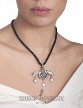 Silver Minoan Malia bees (The bees of Malia) pendant & Brooch. Greek jewelry (crete) from sterling silver.