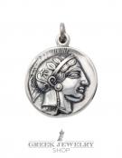 271 Athens tetradrachm, Athena & Owl of wisdom coin pendant
