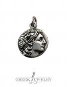 253/BB Alexander the Great portait coin King Lysimachos Greek coin pendant
