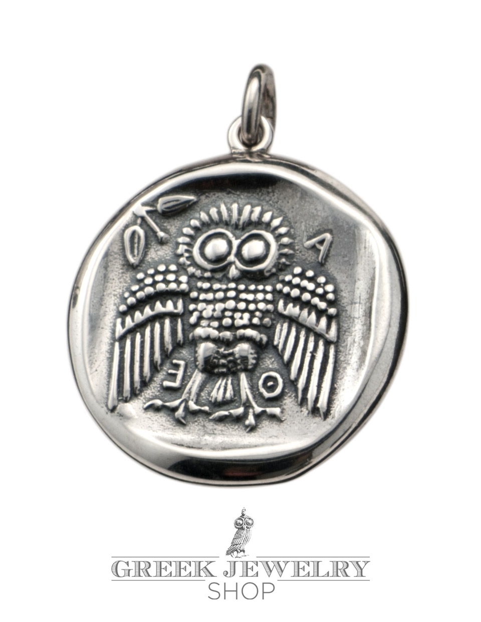 Greek silver pendants ancient coins symbols jewelry greek sterling silver athena and owl of wisdom coin pendant an ancient greek coin jewelry reproduction biocorpaavc