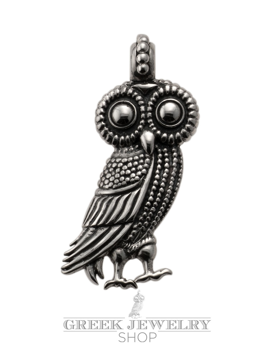 263 Large Athens Wise Owl Pendant