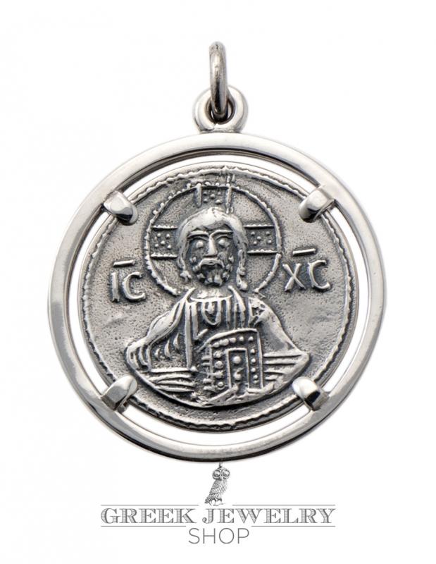 787 byzantine christ pendant silver jesus christ coin pendant byzantine silver crucifix coin pendant aloadofball Image collections