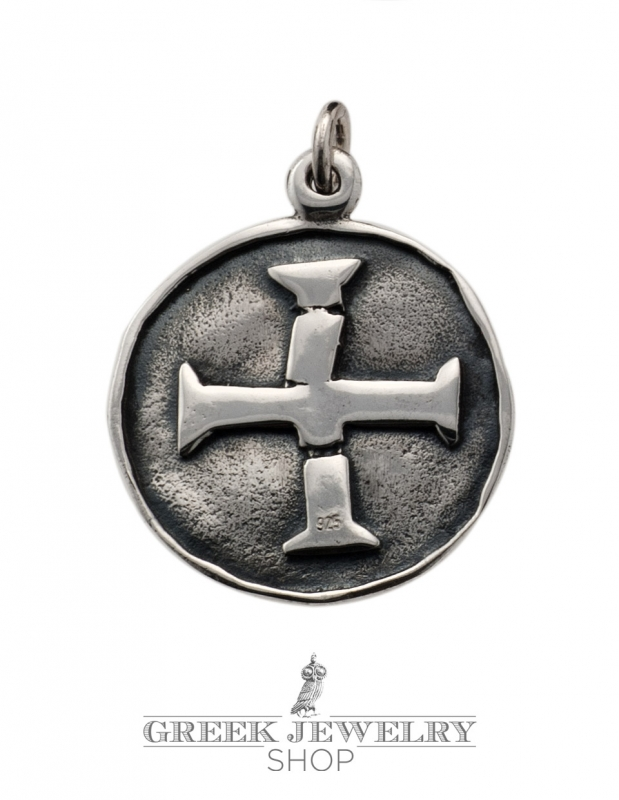 A100 masters of poitou masonic cross pendant from silver masonic seal sigilium templi cross seal templar pendant aloadofball Images