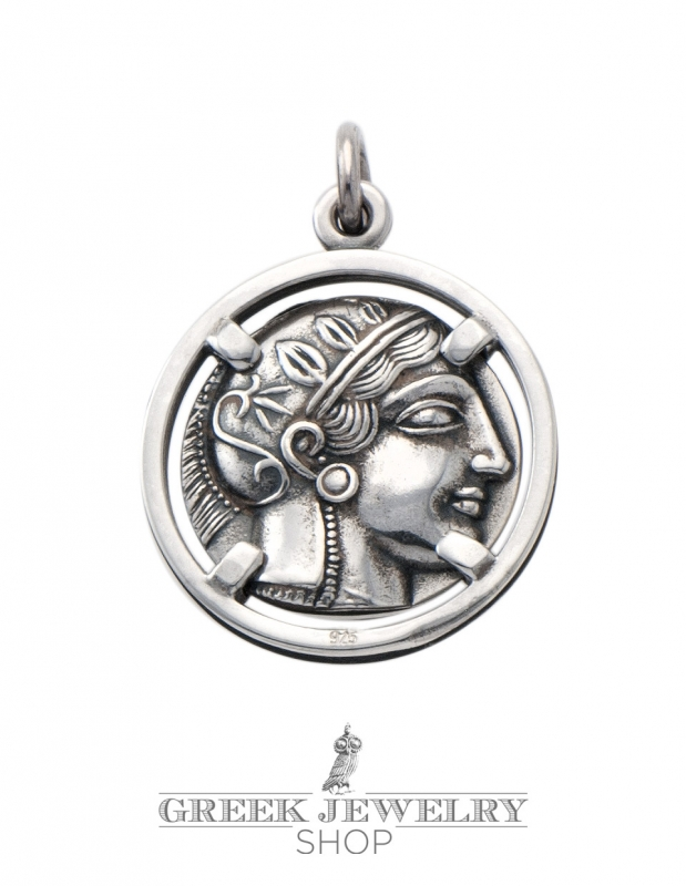 goddess athena and wise owl pendant our best ancient