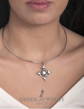 Byzantine cross jewelry, Greek orthodox baptism jewelry - Greek