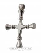 737 XL Impressive Solid Sterling Silver double faced Bar Cross