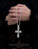 Reliquary (relic) Cross Pendant. Silver religious jewelry from GreekJewelryShop.com