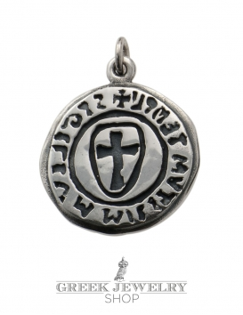 Sigilium templi cross seal templar pendant (cross pattée) in sterling silver