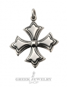 169 Solid Sterling Silver Byzantine Cross pattée