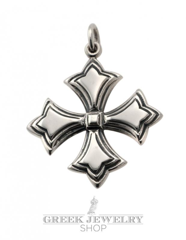 Byzantine Crosses Silver Cross Patte Pendant