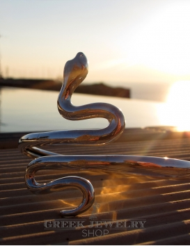 Silver snake bracelet. Greek jewelry Shop