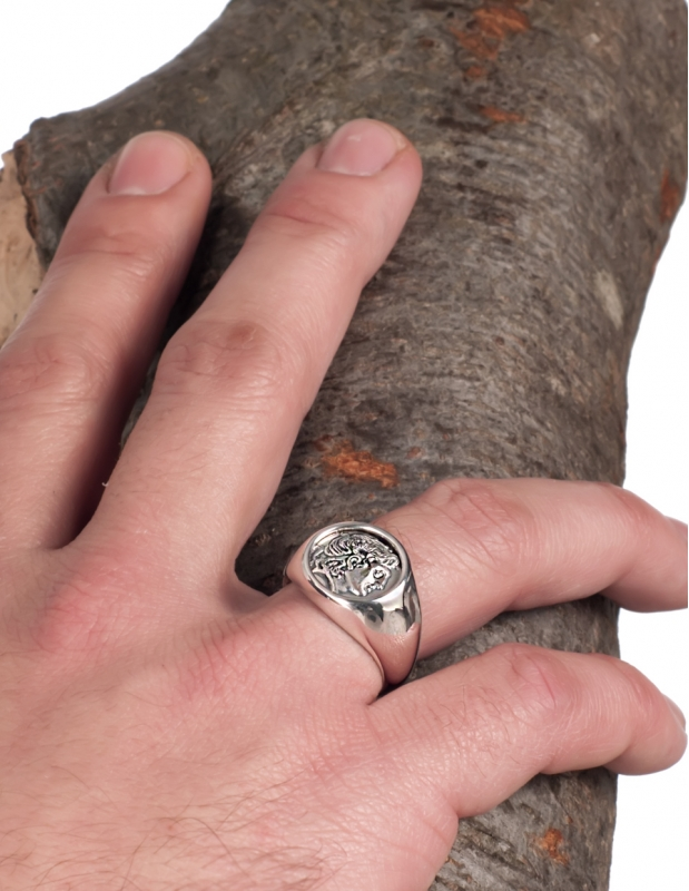 Greek Jewelry Shop - Rings - 1101 Alexander the great chevalier coin