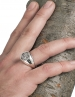 Greek Goddess Athena jewelry. Silver chevalier pinky coin ring for women and men