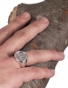 Alexander the Great ancient greek silver coin ring. Large