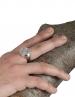 Herakles/Hercules Greek chevalier coin silver signet ring