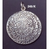 249/K X-Large Convex Phaistos disc pendant (39mm diameter)