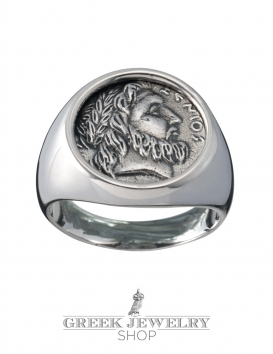 1117 Zeus chevalier (graduated) coin ring L