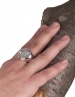 Large Mens Dionysus Bacchus coin ring. Solid silver dionysian cult jewelry