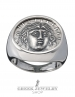 1131 Rhodes island- Helios ancient sun god chevalier coin ring (XL)