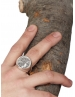 Goddess Athena chevalier large impressive coin ring from Greek Jewelry Shop