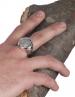 Greek Goddess Athena silver chevalier coin ring from greekjewelryshop.com
