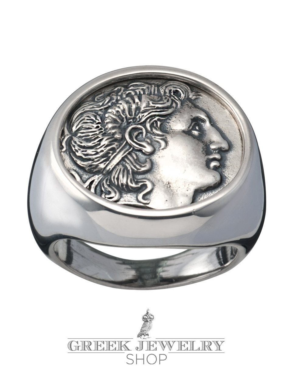 Greek jewelry shop ancient greek coin jewellery rings large impressive mens alexander the great chevalier coin ring greek jewelry shop biocorpaavc