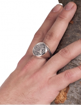 1127 Herakles/Hercules Greek coin ring jewelry for men