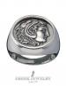 1127 Herakles/Hercules Greek coin ring jewelry for men