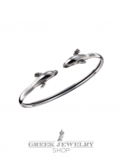 301 Sterling Silver Greek Dolphins Bracelet