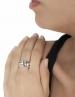 Greek Key sterling silver ring