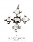 66 Greek Orthodox Silver Byzantine Baptism Cross
