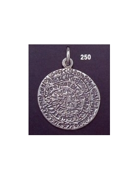 250 Large Flat Phaistos disc pendant (28mm diameter)