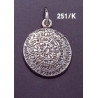 251/K Medium convex Phaistos disc pendant (23mm diameter)