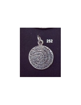 252 Small flat Phaistos disc pendant (17mm diameter)